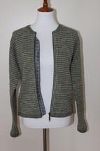 Woolrich Small Women's Full Zip Long Sleeve Green Sweater - $522,17 MXN