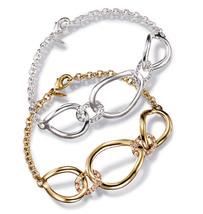 Avon Embellished Metals Cutout Bracelet Silvertone - $12.99