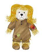 Burlap Plgrim Girl Bear-Digital Download-ClipAr... - $3.00