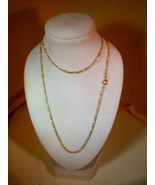 "14K SOLID GOLD FIGARO CHAIN 18"" PERFECT FOR PENDANT AND CHARMS - $149.99"