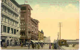 Dunlop and Schlitz Hotels Atlantic City 1911 Post Card - $5.00