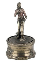 """Mozart's """"Eine Kleine Nachtmusik"""" Bronze Music Box Statue Sculpture - $55.74"""