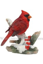 Cardinal Bird sculpture figure statue - $27.70