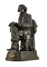 "Musician - Beethoven Statue Figure Sculpturre Cold Cast Bronze 9 3/4"" - $55.78"