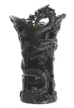 "Large Chinese Dragon Vase 22"" Tall (Black) - $167.95"