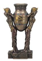Art deco Egyptian women carrying vase bronze home decor - $98.47