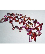 Chunky cranberry pearls necklace - $30.00
