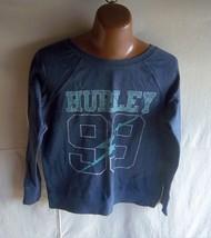 """HURLEY - Women's Aegean Blue """"99"""" Light weight Fleece lined L/S T-Shirt ... - $12.95"""