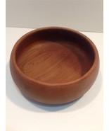 "TEAK Salad Bowl 9.5"" x 4"" Danish Design Vintage... - $10.77"