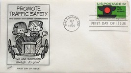 September 3, 1965 First Day of Issue, Fleetwood Cover, Traffic Safety #53 - $1.19