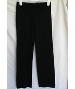 Max Studio No Pocket Flat Front Pant Black 4 Waist 29 Polyester Blend FL... - $36.27