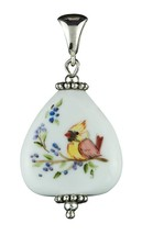 Fenton Art Glass Necklace Pendant Lady Cardinal... - $85.00