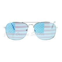 American Flag Print Lens Square Metal Frame Sunglasses USA - $9.85