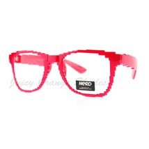 Pixelated Clear Lens Glasses Pixel Digital Fashion Eyeglasses - $9.85+