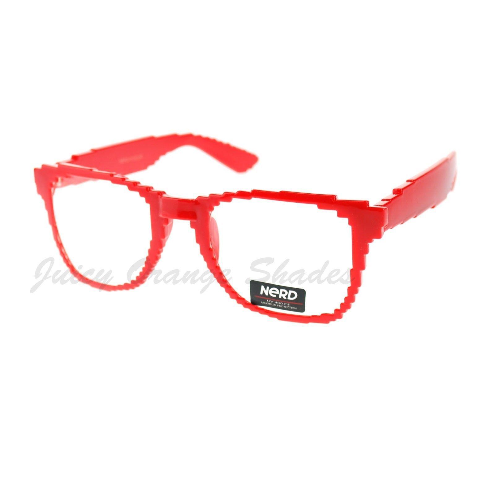 Pixelated Clear Lens Glasses Pixel Digital Fashion Eyeglasses