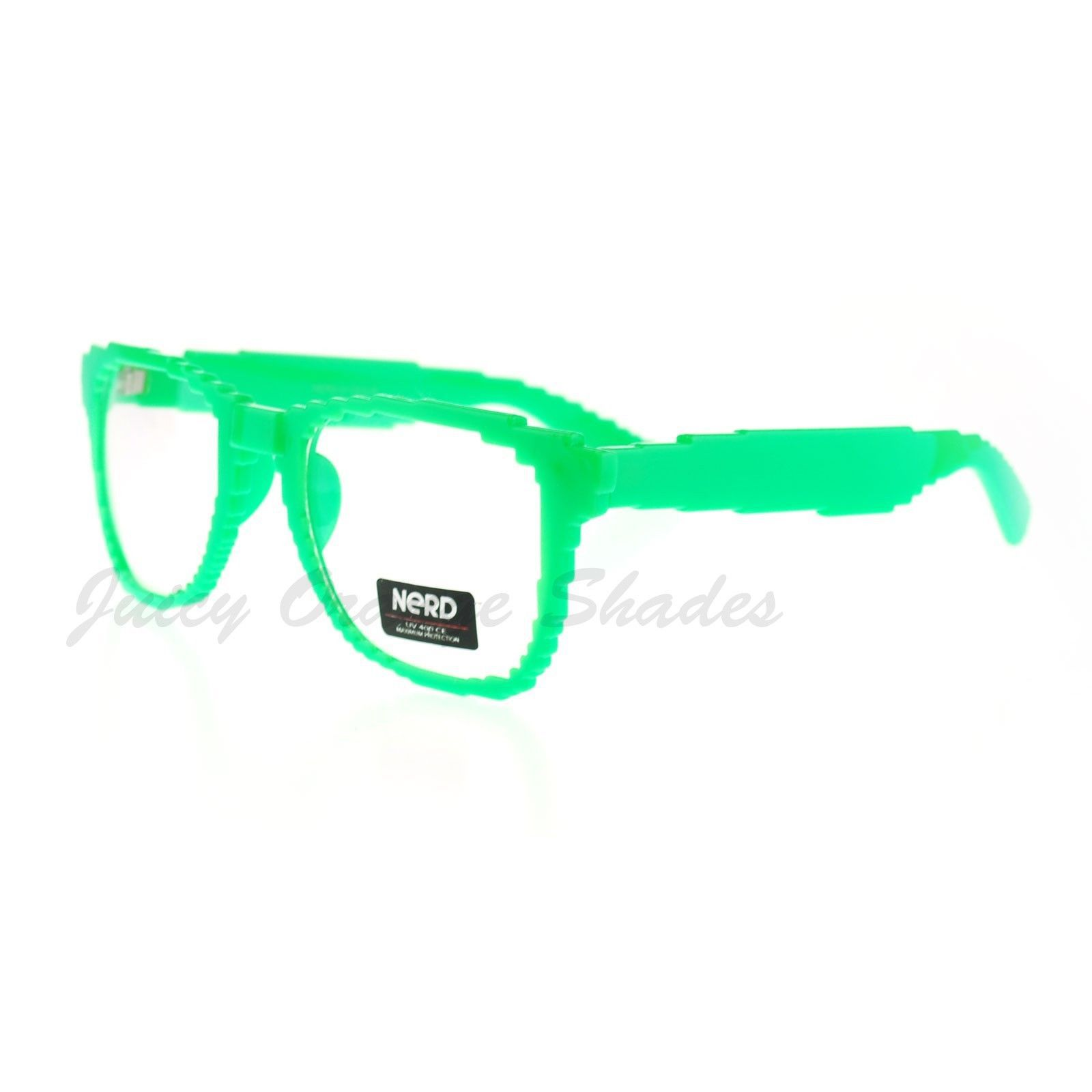 Pixelated Clear Lens Glasses Pixel Digital Fashion Eyeglasses