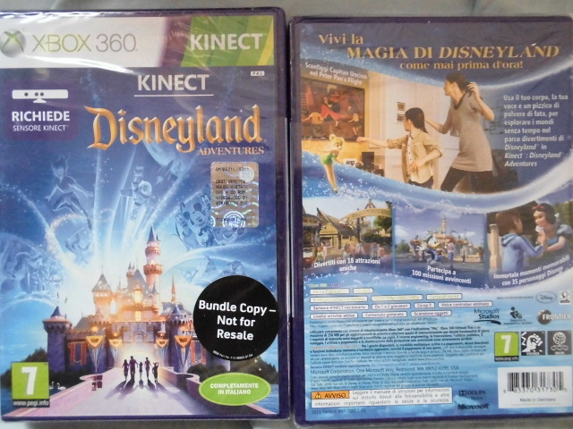 Kinect Disneyland Adventures xbox 360 game [PAL]