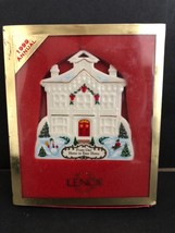 LENOX 1999 Our Home To Your Home Merry Christmas Tree Ornament - $12.86