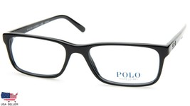 New Polo Ralph Lauren Ph 2143 5001 Shiny Black Eyeglasses Frame 55-18-145 B33mm - $98.98