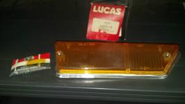NOS Lucas RH Front, AMBER WITH CHROME TRIM Lens TR6 1969-1972.  54579198 - $140.00