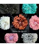 Wholesale Lady Peony Flower Brooch Clip Pin Bridal Party Hair Holder Hea... - $7.95