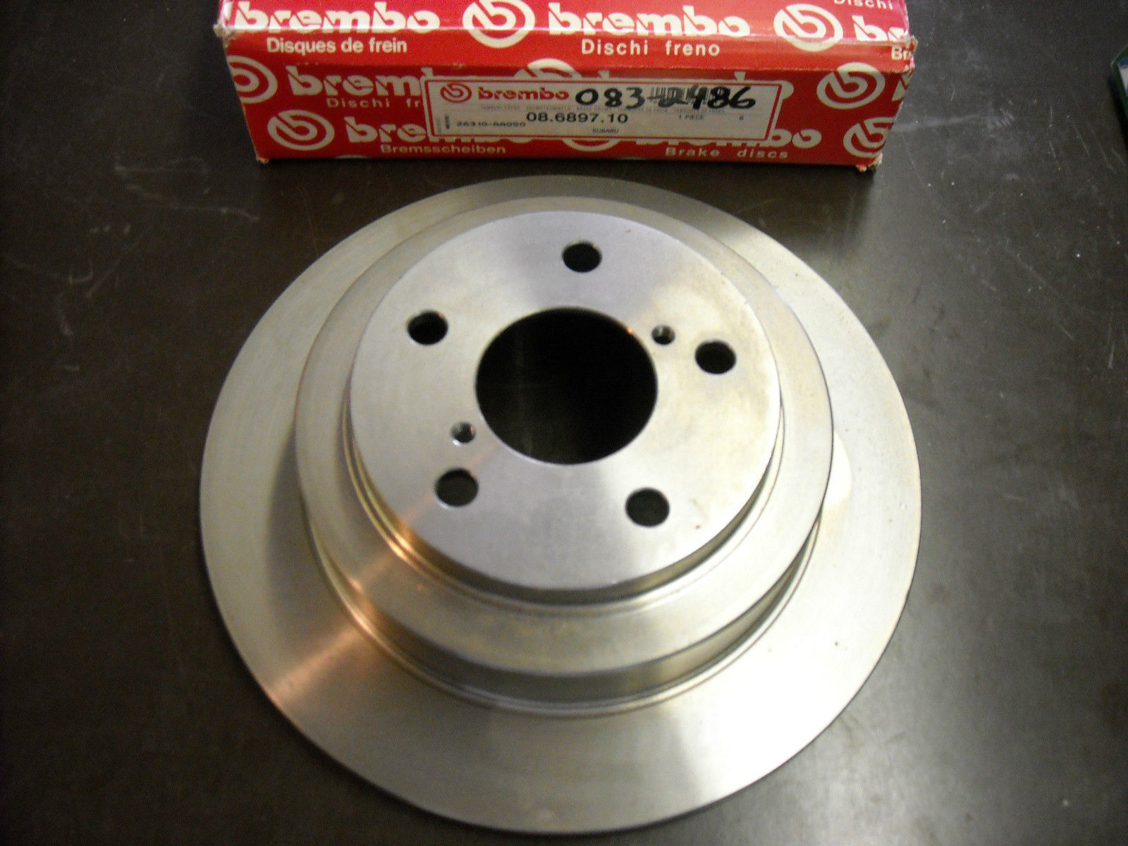 Primary image for Brembo Brake Rotor 08.6897.10 (new, rear, fits Subaru Impreza, Legace)