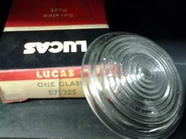 NOS Genuine Lucas 575285 Jaguar XK140, 150 clear glass front turn signal... - $40.00