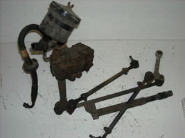 1976 Mercedes Benz 280S: Steering Box Assembly, pitman arm, tie rods, used - $190.00