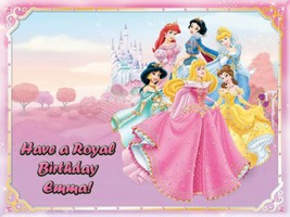 "Single Source Party Supply - Disney Princess Edible Icing Image #1-8.0"" ... - $8.54"