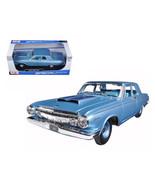 1963 DODGE 330 BLUE 1/18 DIECAST MODEL CAR BY MAISTO 31652 - $48.95
