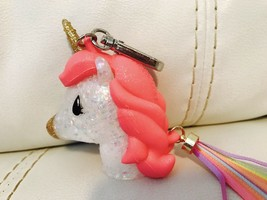 Bath & Body Works PocketBac Holder  Pink Multicolor Glitter Unicorn w/ T... - $12.82
