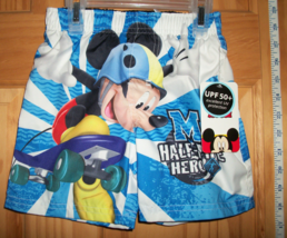 Disney Baby Clothes 18M Mickey Mouse Bathing Suit Trunks Hero Infant Swi... - $14.24