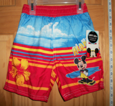 Disney Baby Clothes 24M Mickey Mouse Bathing Suit Trunks Aloha Infant Sw... - $14.24