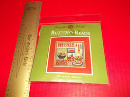 Craft Gift Mill Hill Kit Thread Button Bead Barbeque Counted Cross Stitc... - $14.24