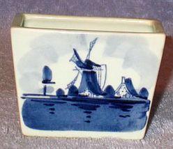 Vintage Holland Blue Delft Tooth Pick Holder - $7.00