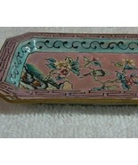 Small Cloisonne Pink Tray with Bird Flower Motiff - $10.00