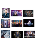 9 Doctor Who inspired Stickers, Birthday Party Favors, Labels, decorations - $8.99