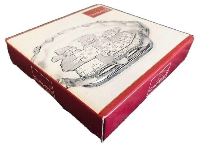 Mikasa Celebrations Carolers Collection Sweet Dish QQ840/502 Crystal Christmas - $7.91