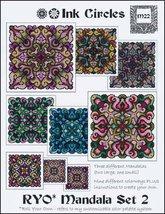 Ryo Mandala Set 2 cross stitch chart Ink Circles  - $13.50