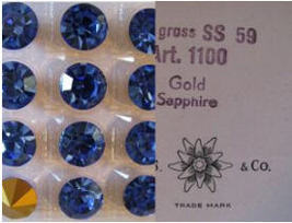 2 Vintage Swarovski Sapphire Crystal Rivoli 14mm - $8.00