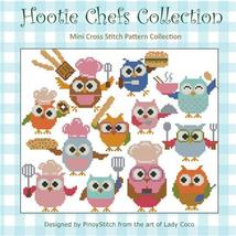Hootie Chefs Collection cross stitch chart Pinoy Stitch - $13.50