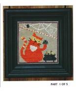 Candy Corn Cat Spooky Spinners series cross stitch chart Bent Creek  - $6.75
