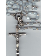 Rosary - Blue 15 inches long Lucite Bead - MB-610BLU - $21.99