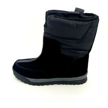 Lands End Womens 406465 Winter Snow Commuter Boots Suede Pull On Black 7B - $49.49