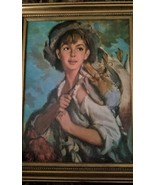 Andrew Loomis Original Painting, Boy with Fowl, Vintage, High Quality, F... - $2,000.00