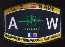US Navy AW Aviation Systems Warfare Operator Rate Military Patch - $9.97