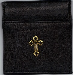 Rosary case black squeeze top mb4b