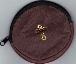 Rosary Case Brown - Round - Zipper Closure - MB6/BR - $12.99