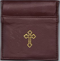 Rosary Case Brown - Squeeze Top - MB4/BN
