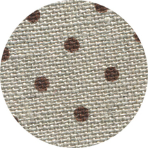 FABRIC CUT 32ct natural/brown dot linen 13x17 Something Wicked Mystery Sampler - $9.25